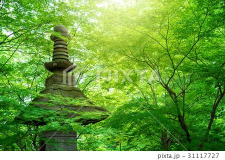 寺院の石塔 31117727