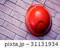 Red safety helmet from the top 31131934