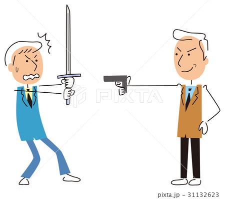 武器のチョイスを間違えたビジネスマン 31132623