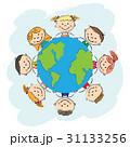 地球 世界 ベクトルのイラスト 31133256