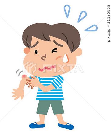 虫さされ 子供 イラスト 31135958