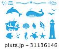 ベクター 海 セットのイラスト 31136146