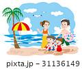 ベクター 海水浴 人物のイラスト 31136149