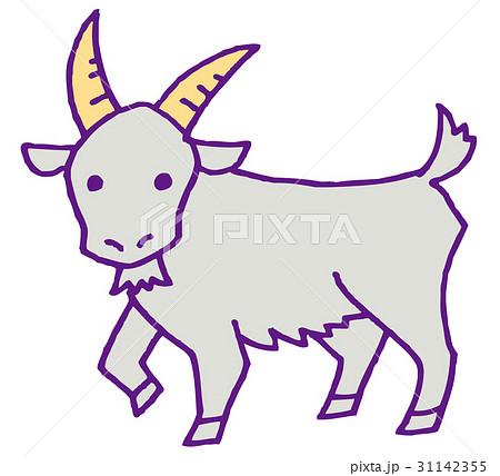 山羊座のイラストのイラスト素材 31142355 Pixta
