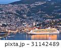 長崎 客船 夕暮れの写真 31142489