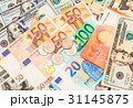 Russian rubles coins over different currency 31145875