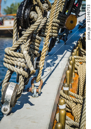 Rigging on the old sailboatの写真素材 [31146753] - PIXTA
