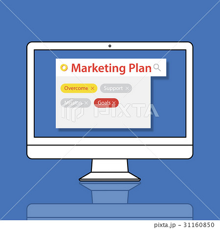 marketing plan target strategy scheme objective proposalのイラスト