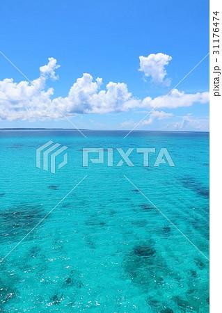 沖縄 青空と青い海の風景 31176474