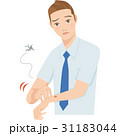 蚊に刺される男性 31183044