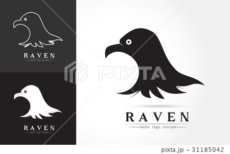 elegant logo of ravenのイラスト素材 [31185042] - PIXTA