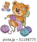 ベクトル クマのぬいぐるみ テディベアのイラスト 31198775
