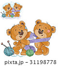 ベクトル クマのぬいぐるみ テディベアのイラスト 31198778