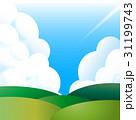 入道雲と草原  31199743