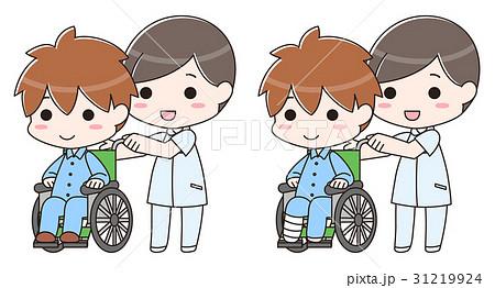 車椅子 骨折 事故 入院 介護士 看護師 病院 保険  31219924