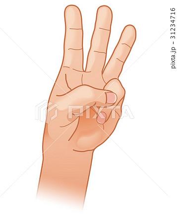指三本 指で数える 31234716