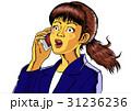 驚き ショック スマートフォンのイラスト 31236236