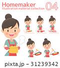 主婦 料理 女性のイラスト 31239342