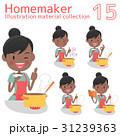 主婦 料理 女性のイラスト 31239363