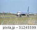 仙台空港で離陸準備する飛行機 31245599