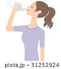 水を飲む女性 31252924