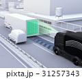 自動運転トラックの隊列走行のコンセプトイメージ 31257343