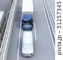 自動運転 高速道路 自動ブレーキのイラスト 31257345