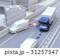 自動運転 高速道路 衝突回避のイラスト 31257347