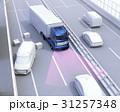 自動運転 高速道路 衝突被害軽減のイラスト 31257348