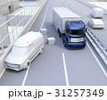 自動運転 高速道路 衝突回避のイラスト 31257349