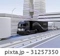 自動運転 高速道路 トラックのイラスト 31257350