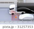自動運転 高速道路 トラックのイラスト 31257353
