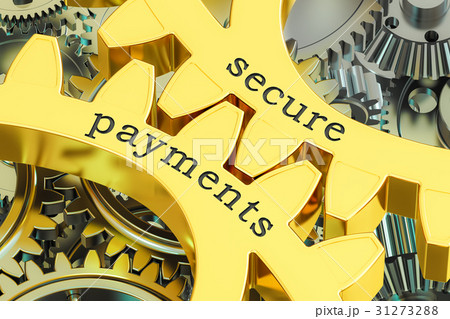 secure payments concept on the gearwheels 31273288