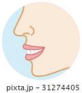 良い歯並び 横顔 ボディーパーツ 31274405