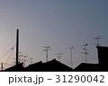 夕暮れの屋根のシルエット 31290042