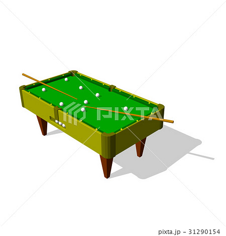 Billiard table.Isolated on white background.のイラスト素材 [31290154] - PIXTA