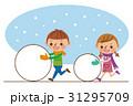 雪だるま・雪遊び  31295709