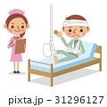 ケガ 入院 男性のイラスト 31296127
