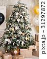 The decorated Christmas tree. A sense of 31297872