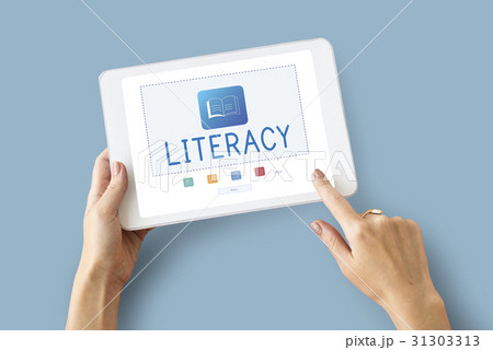E-Book Online Learning Education Knowledge Graphicの写真素材 [31303313] - PIXTA