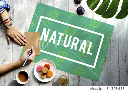 natural vitality reviving graphic design wordの写真素材 31303453