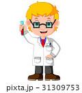 Boy cartoon doing chemical experiment 31309753