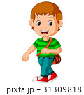 学校 少年 男の子のイラスト 31309818