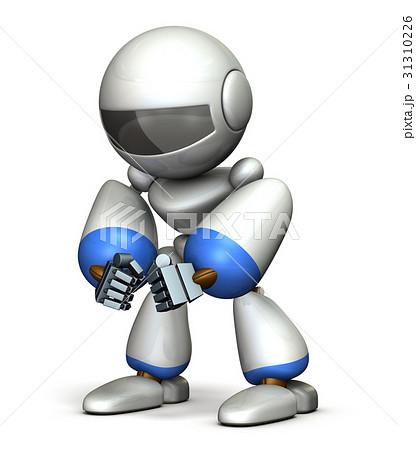 睨みつけるロボット 31310226