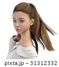 美しい女性バストアップ perming3DCG イラスト素材 31312332