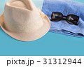 Summer woman's hat and glasses 31312944