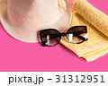Summer woman's hat and glasses 31312951