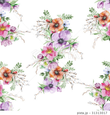 Watercolor flower print 31313017