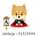 戌年 柴犬 犬のイラスト 31315044