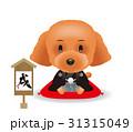 戌年 トイ・プードル 犬のイラスト 31315049